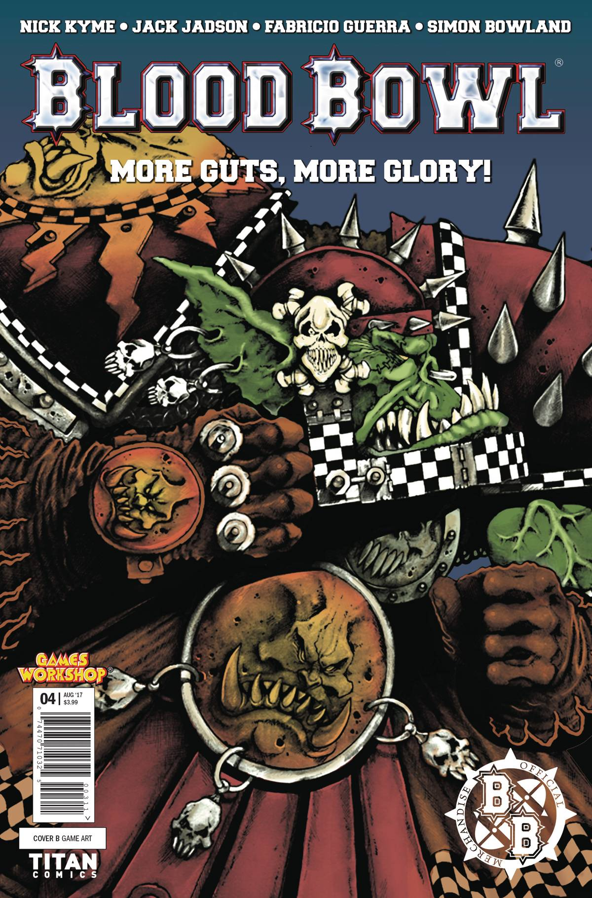 BLOOD BOWL MORE GUTS MORE GLORY #4 (OF 4) CVR B CLASSIC GAME