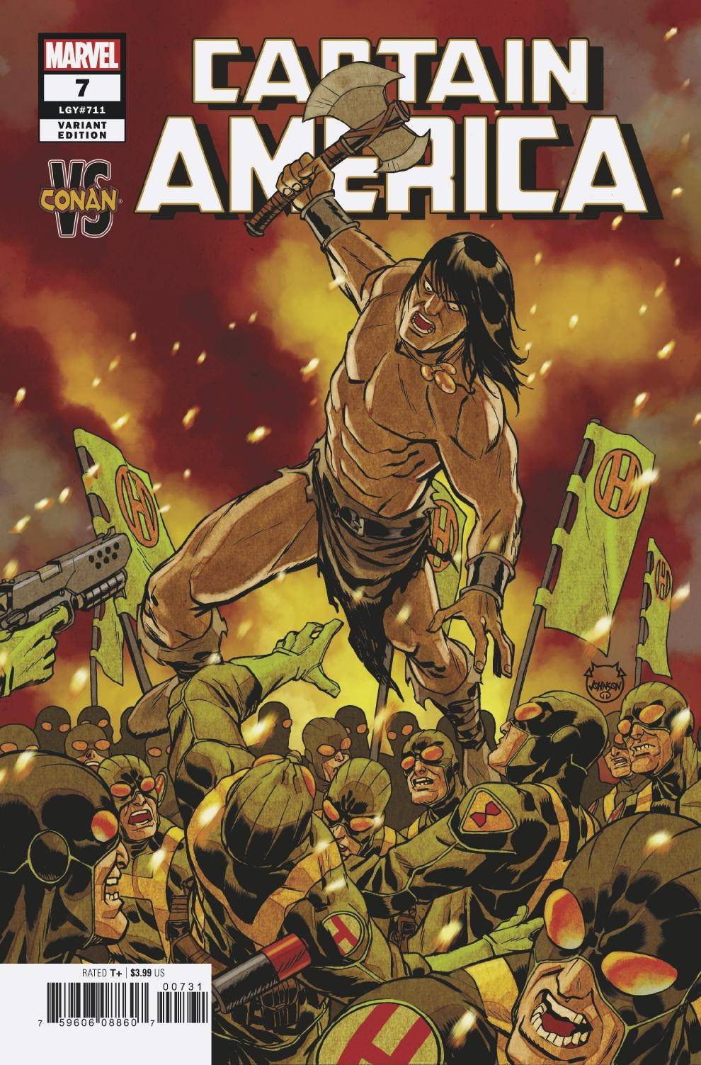 CAPTAIN AMERICA #7 JOHNSON CONAN VAR