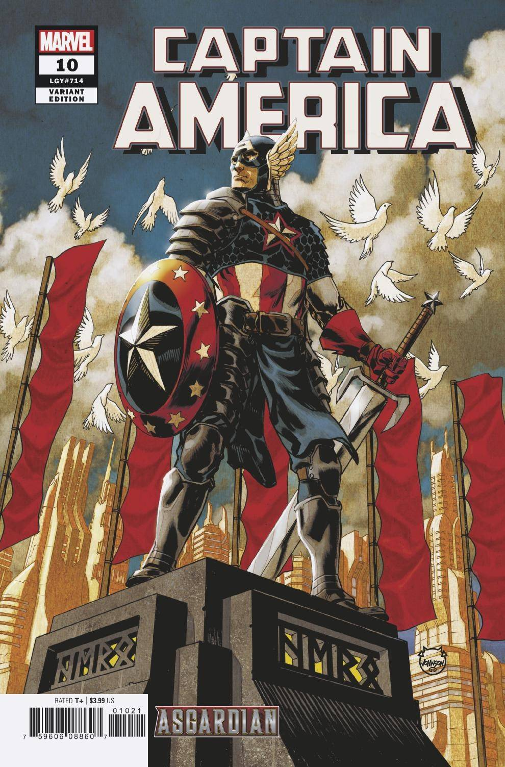 CAPTAIN AMERICA #10 JOHNSON ASGARDIAN VAR