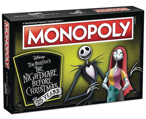 MONOPOLY NIGHTMARE BEFORE CHRISTMAS 25TH ANN BOARD GAME (C: