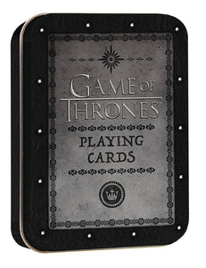 GAME OF THRONES PLAYING CARDS COLL TIN (C: 0-1-2)