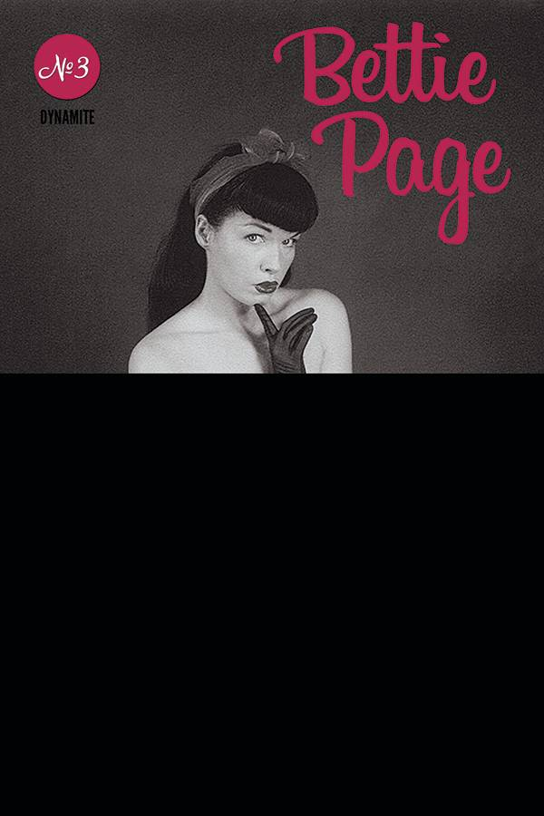 BETTIE PAGE #3 BLACK BAG PHOTO CVR (MR)