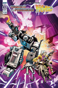 TRANSFORMERS BACK TO FUTURE #3 (OF 4) CVR A JUAN SAMU. - Linebreakers
