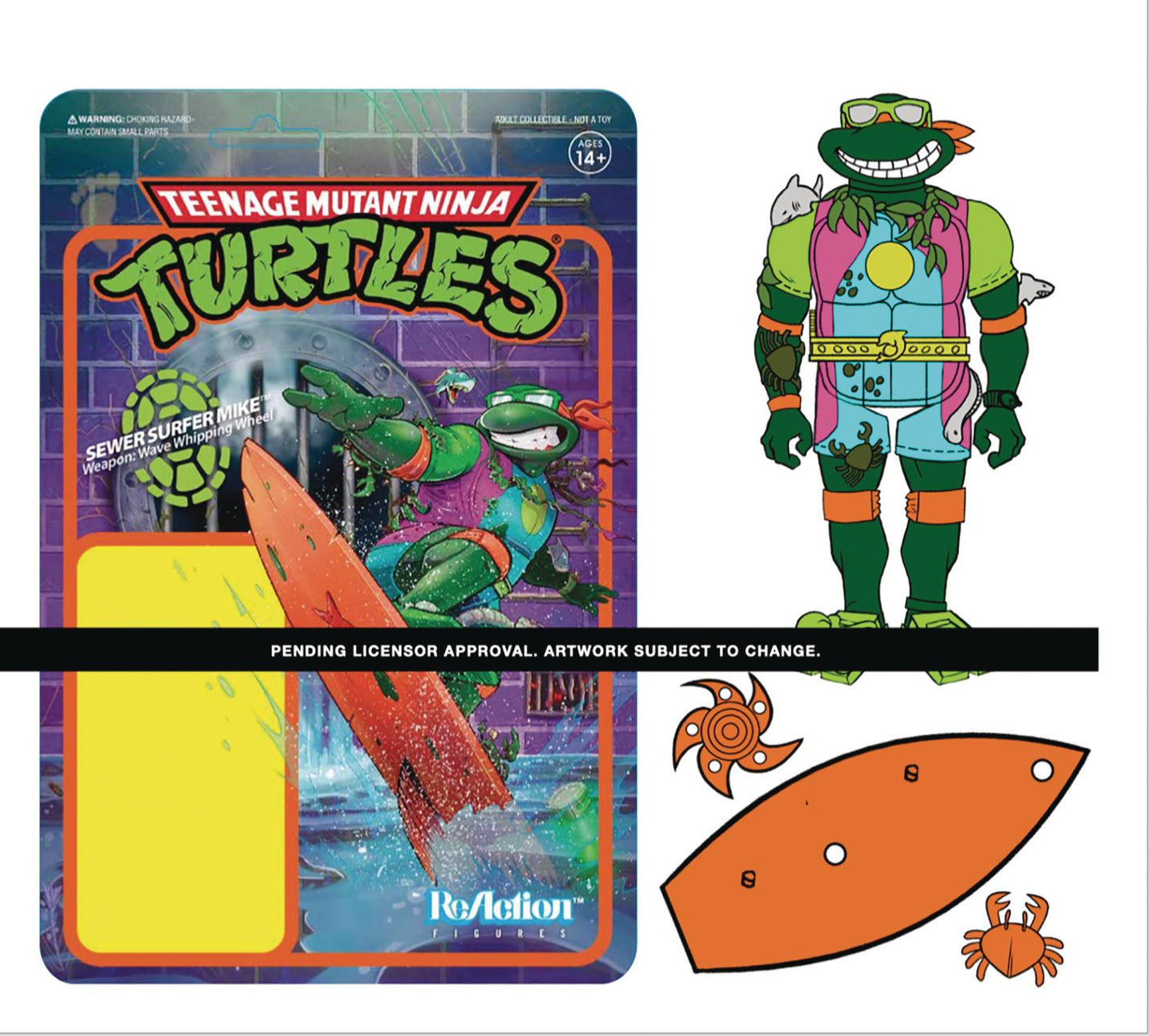 TMNT SEWER SURFER W3 REACTION FIGURE (NET) (C: 0-1-2). - Linebreakers