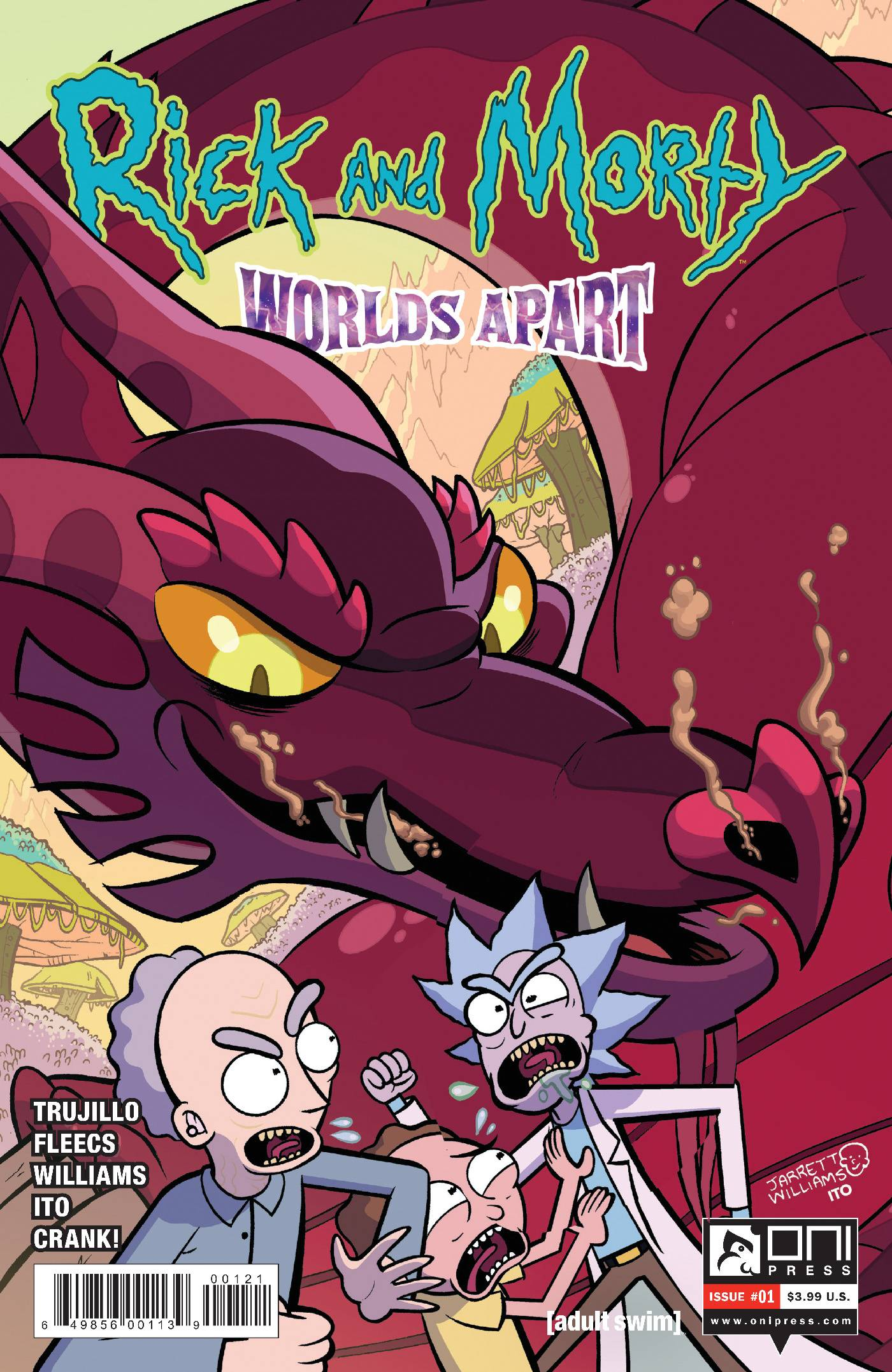 ^RICK AND MORTY WORLDS APART #1 CVR B WILLIAMS