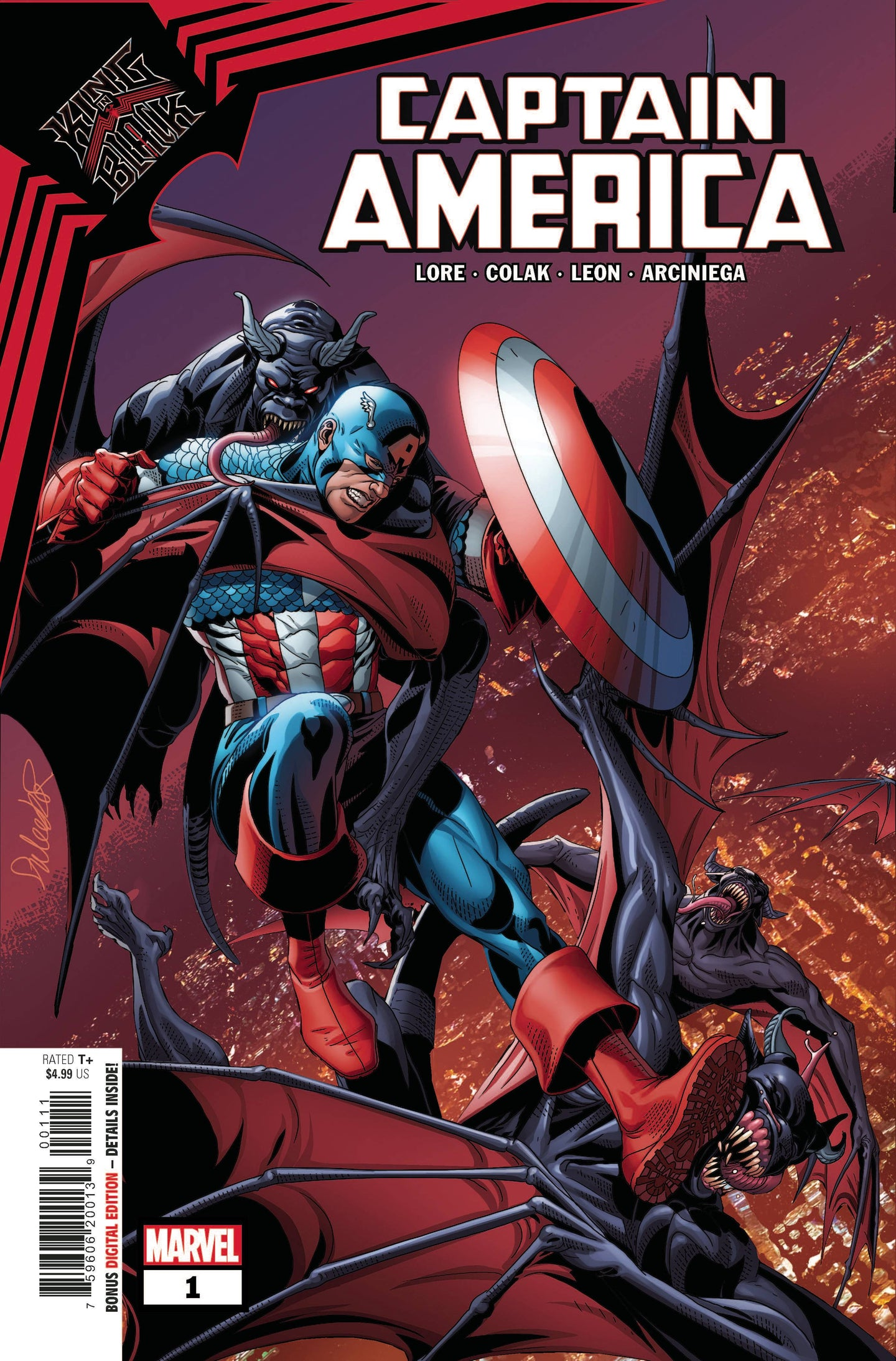 KING IN BLACK CAPTAIN AMERICA #1, - Linebreakers