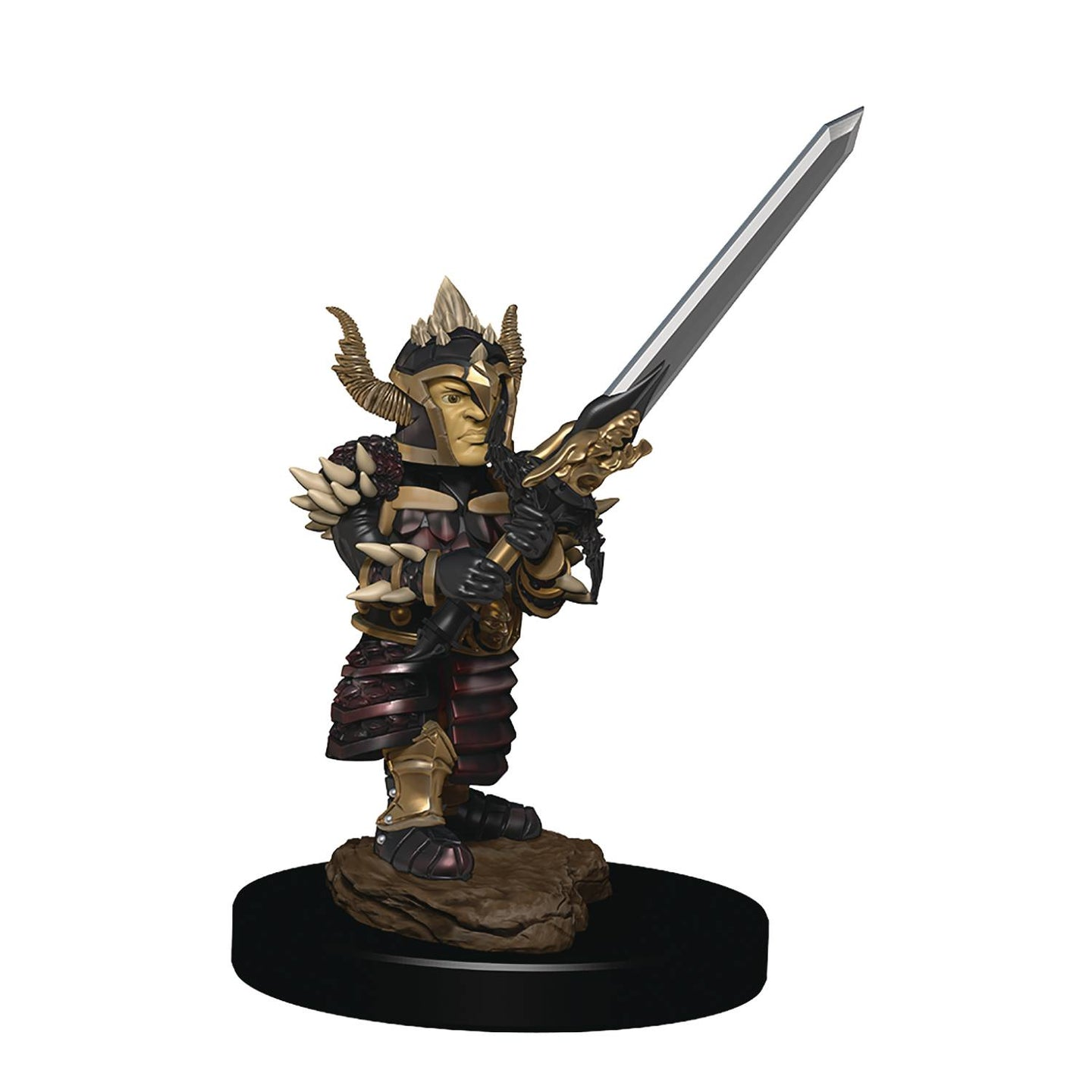 D&D ICONS REALM PREMIUM PAINTED FIG HALFLING FIGHTER MALE    * - Linebreakers
