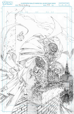 SPAWN #315 CVR D 1:50 RATIO VARIANT CAPULLO RAW PENCILS^