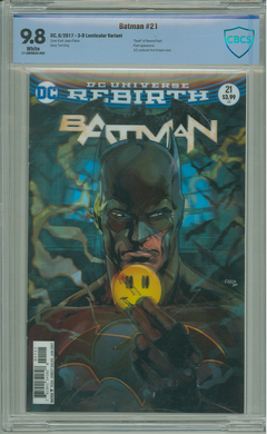 BATMAN #21 LENTICULAR (THE BUTTON) CBCS 9.8