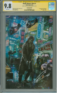 BLADE RUNNER 2019 #1 JOHN GALLAGHER EXCLUSIVE SIGNED & REMARKED CGC 9.8
