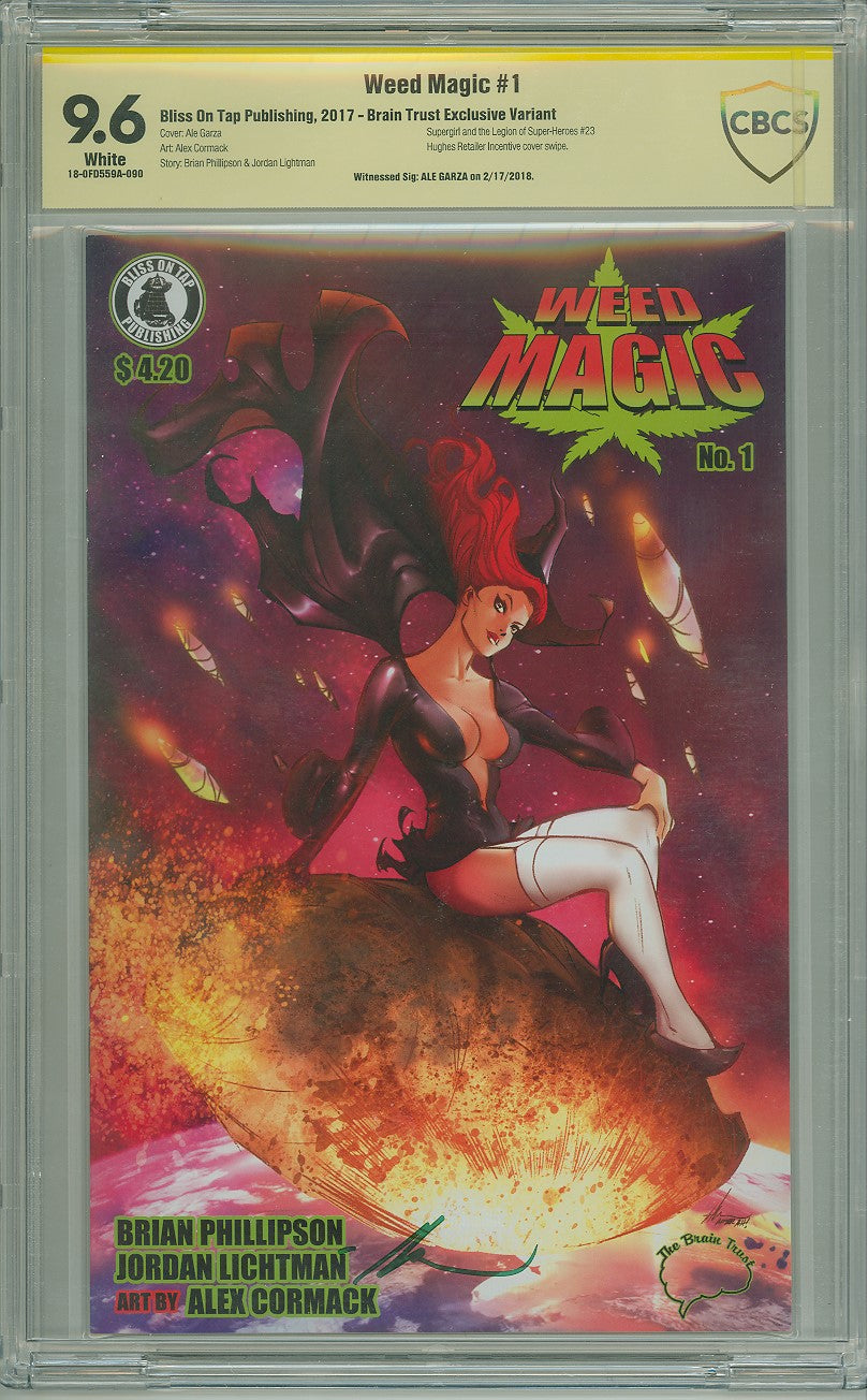 WEED MAGIC #1 (OF 4) EXCLUSIVE HOMAGE CBCS SS 9.6