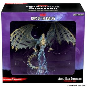 D&D: Icons of the Realms - Boneyard Premium Set - Adult Blue Dracolich - Linebreakers