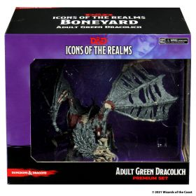 D&D: Icons of the Realms - Boneyard Premium Set - Adult Green Dracolich - Linebreakers