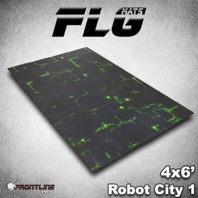 FLG Mats: Robot City 6x4 (GREEN)