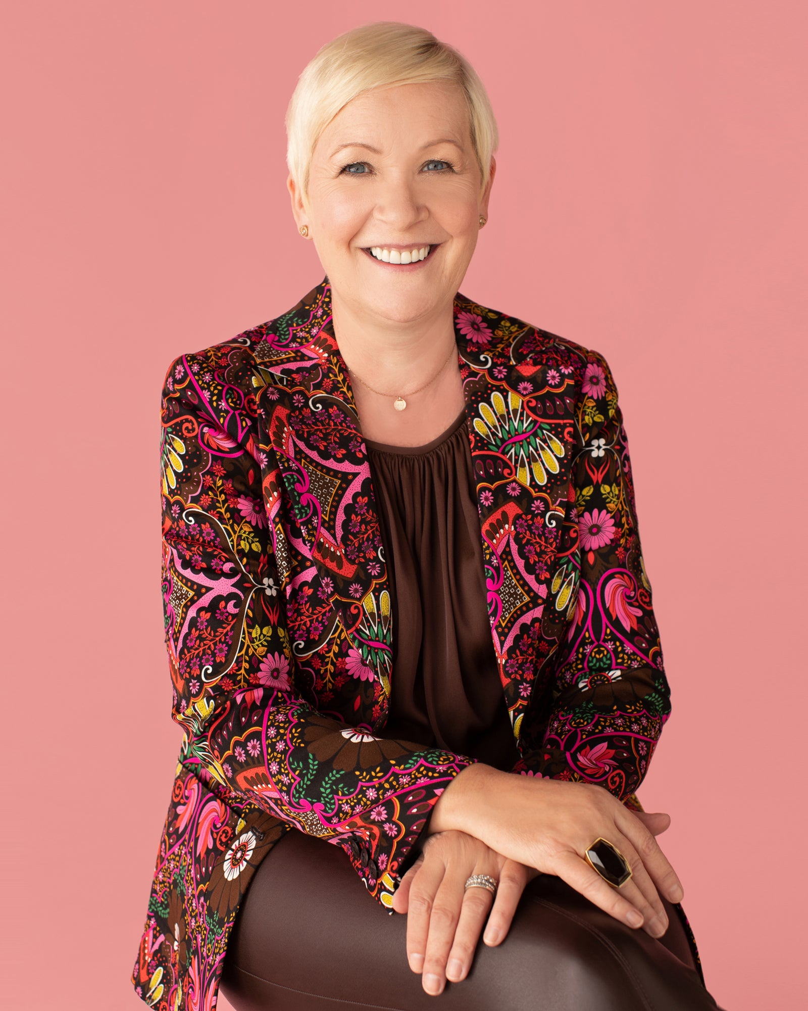 Carol from Trina Turk for Breast Cancer Awareness 2020