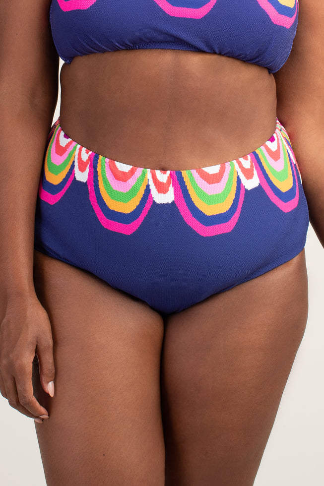 RAINBOW SWIRL PLUS HIGH WAIST