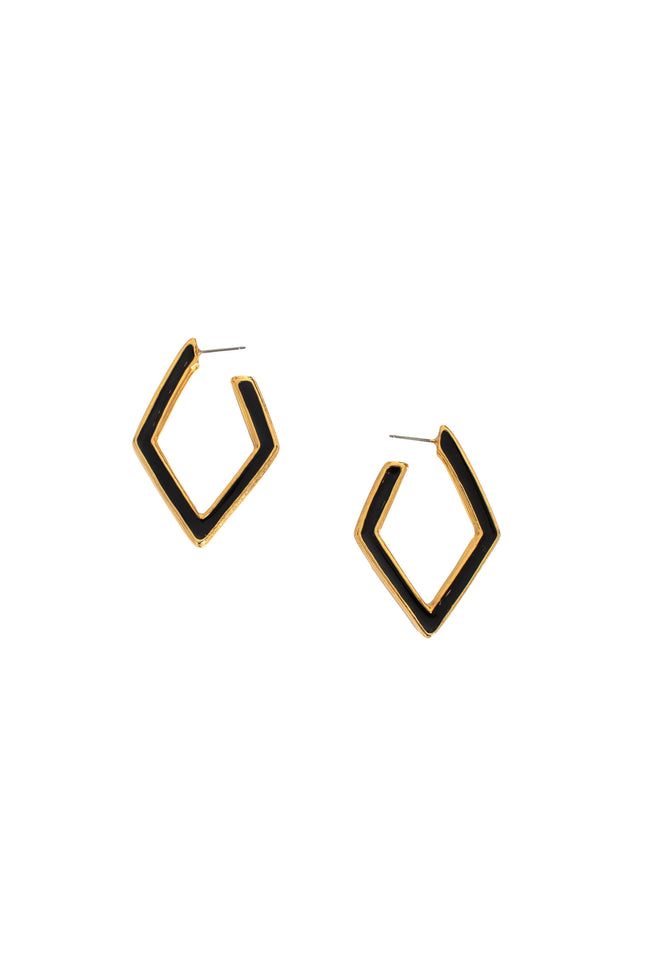 DIAMOND DROP POST EARRING