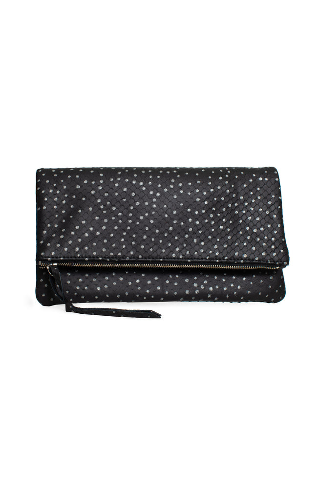 BLACK DOTTY ANASTASIA CLUTCH