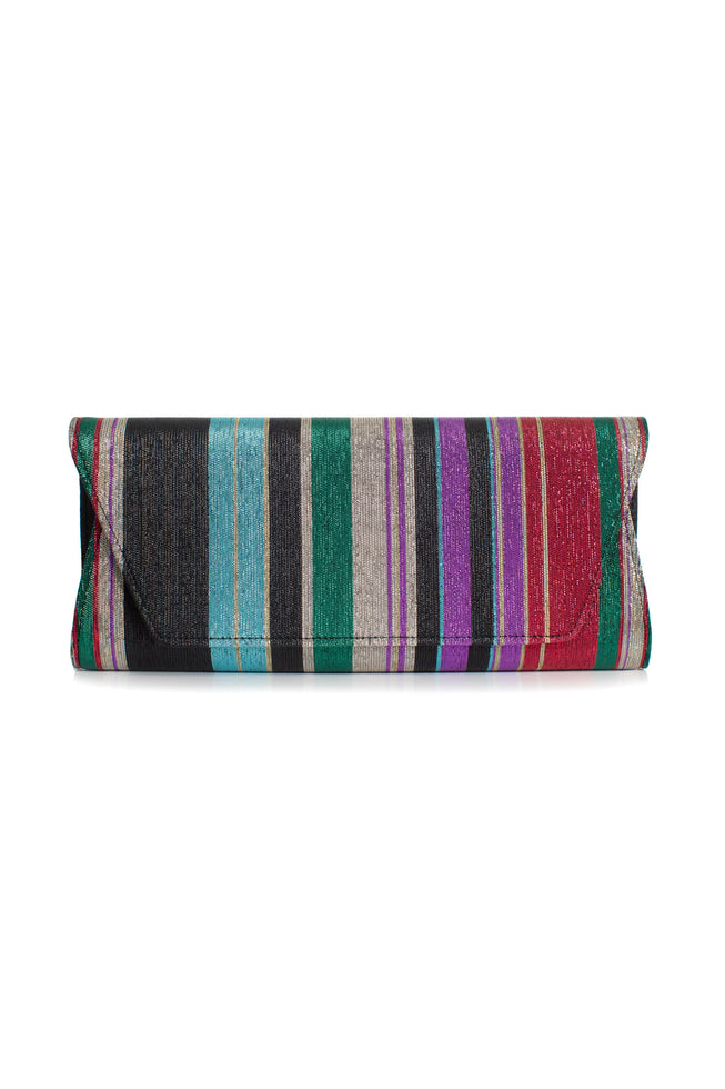 PARTY STRIPE CLUTCH