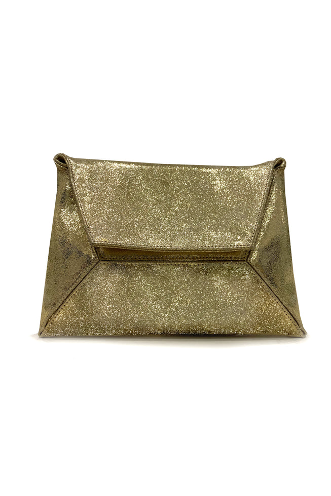 GOLDEN ENVELOPE CLUTCH
