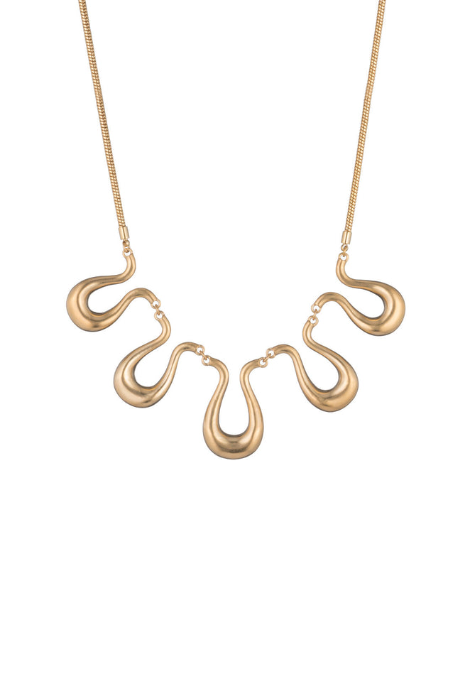 GOLD RUSH WAVY NECKLACE