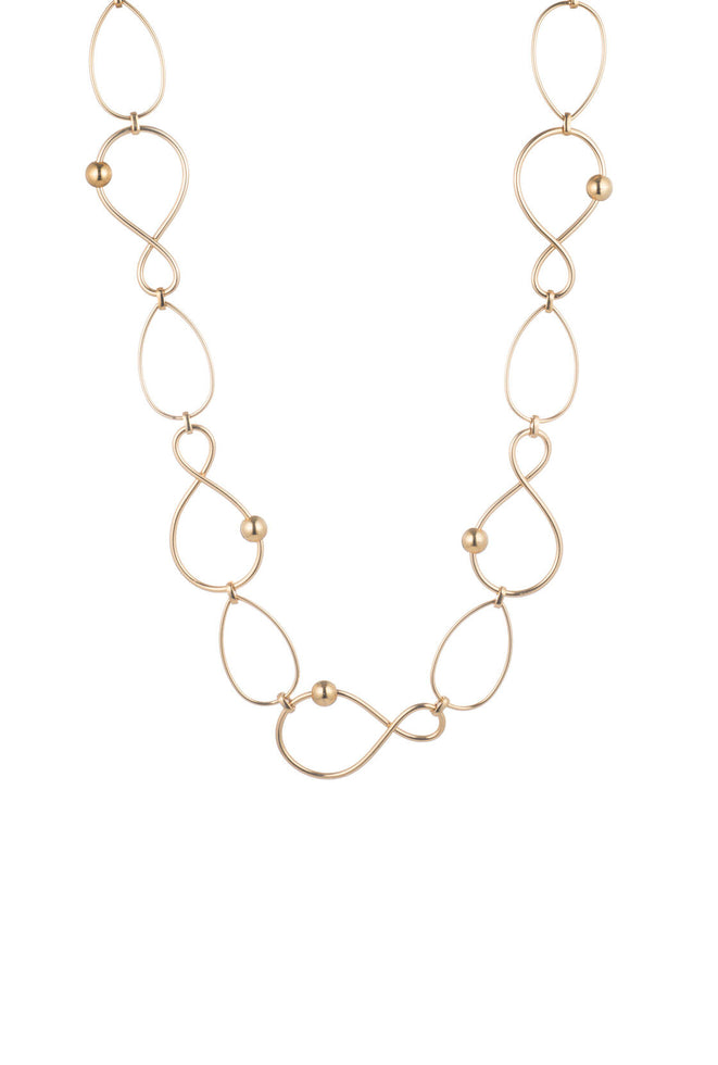 GOLDEN WAVE TWISTED LINK NECKLACE