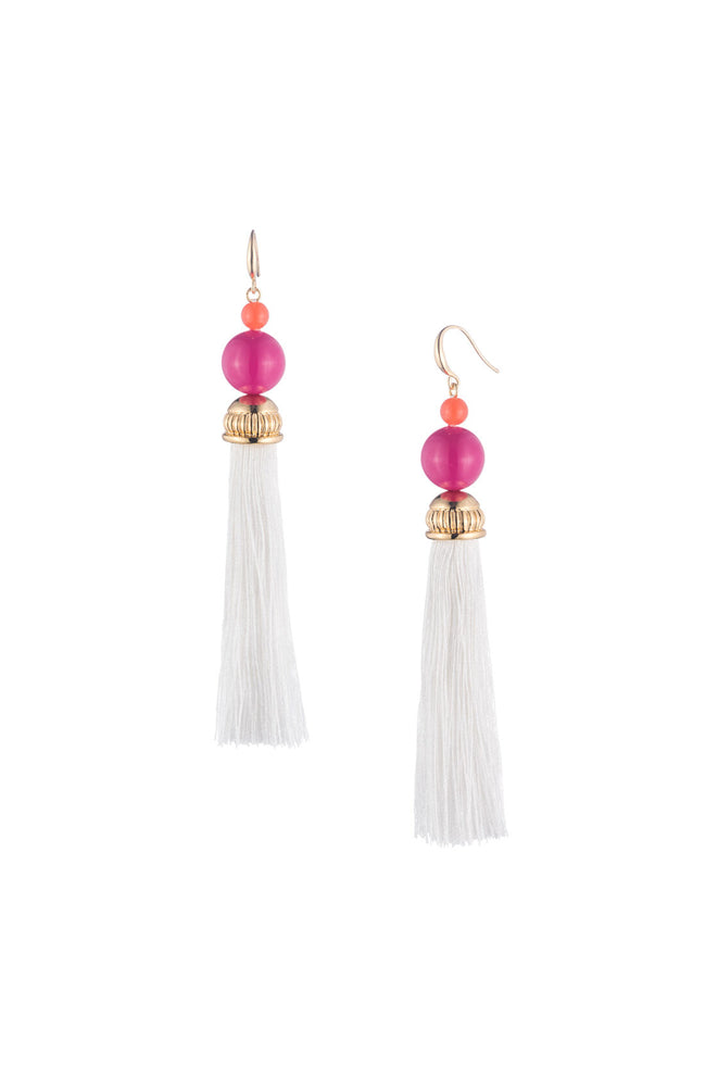 BEADS IN BLOOM TASSEL EARRING