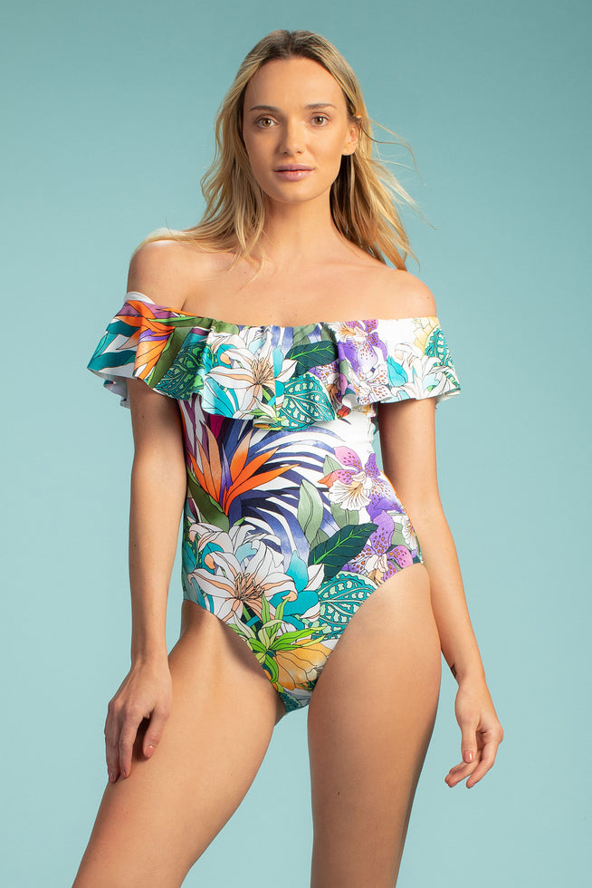 AMAZONIA OFF THE SHOULDER ONE PIECE