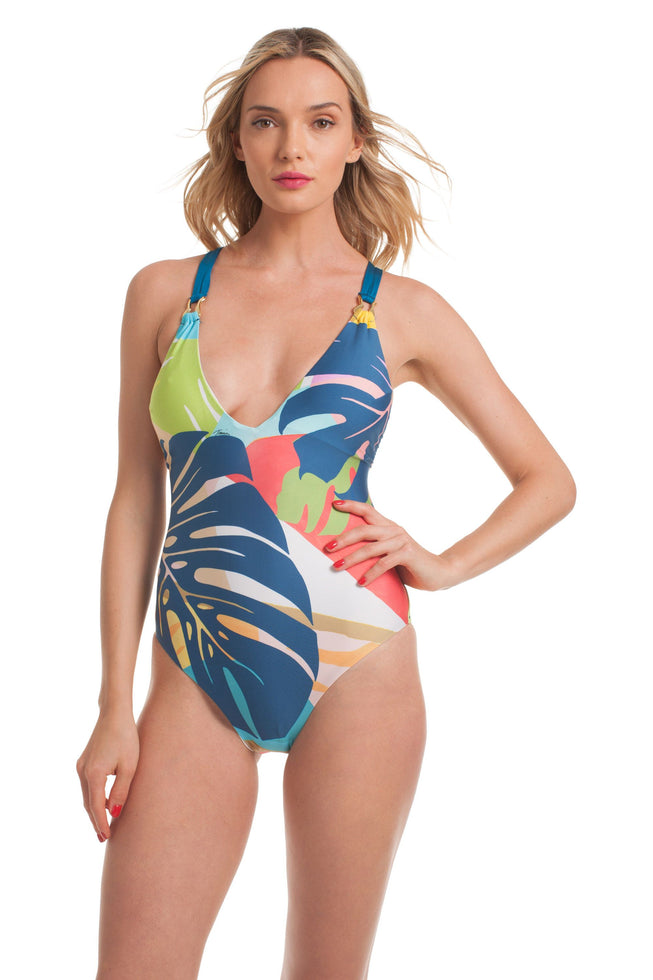 BANANA LEAF V PLUNGE ONE PIECE