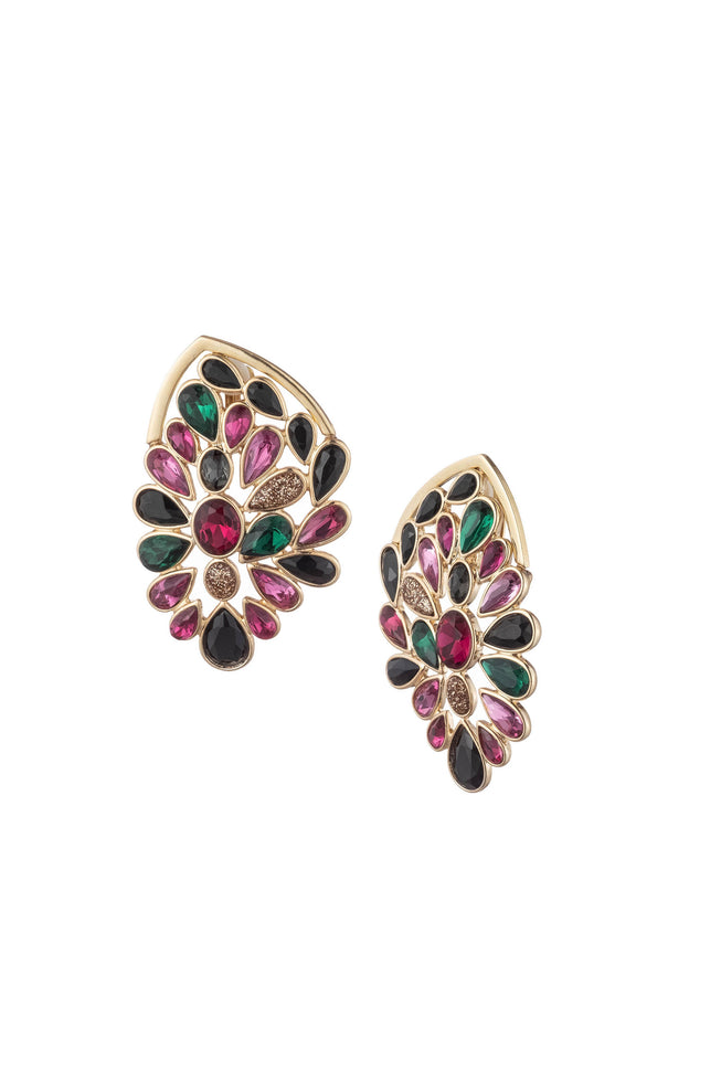 ANOTHER ROUND STONE CLUSTER STATEMENT STUD EARRING