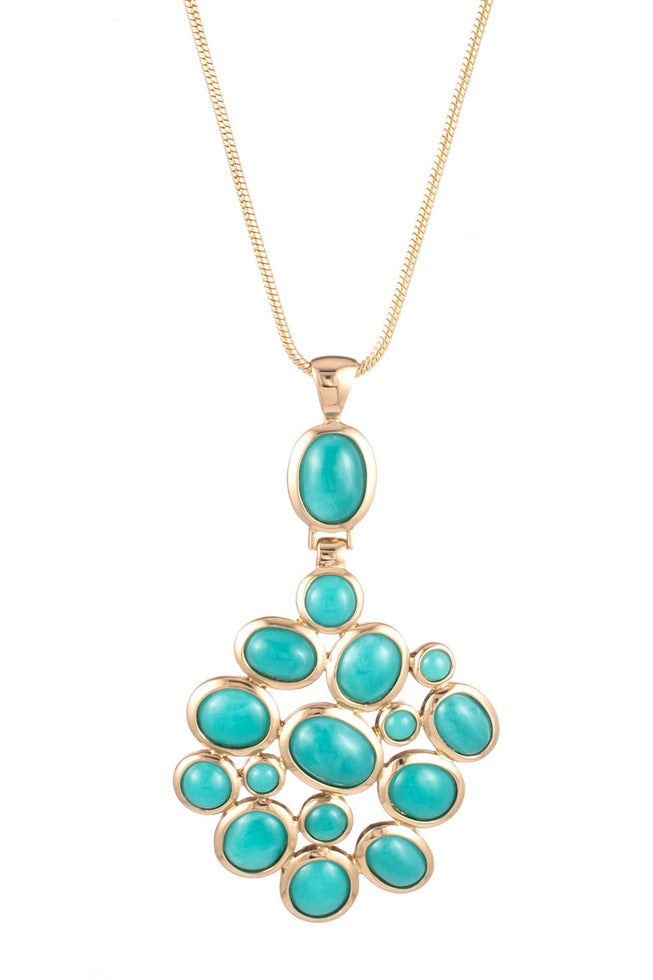 BRUNCHING IN PALM SPRINGS STONE PENDANT NECKLACE