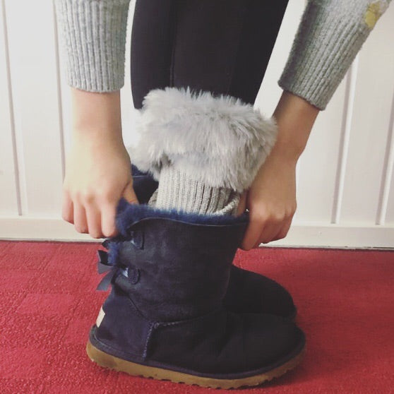 Knit Boot Toppers - Gray