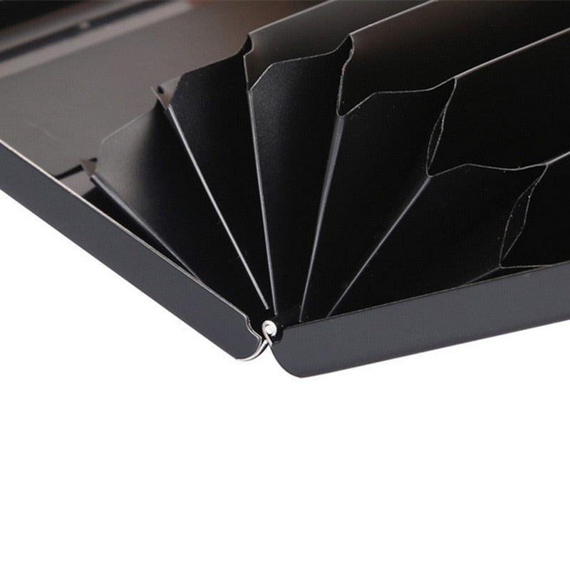 Black Stainless Steel Credit Card Holder