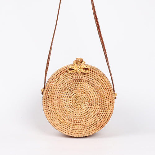 ARPIMALA Women´s Round Straw Bags  Handmade Cross Body Bag Shoulder Bag - Fashpirit