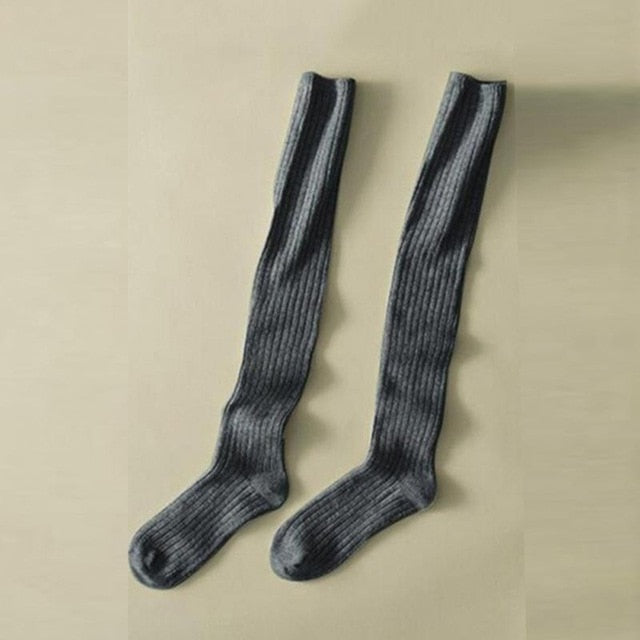 Sole Mate Over The Knee Socks - Gray