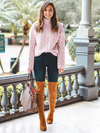 """Heather"" Camel Over-the-knee Pointed Boots"