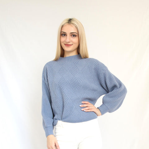 """Georgia"" White Buttoned Sleeve Sweater"