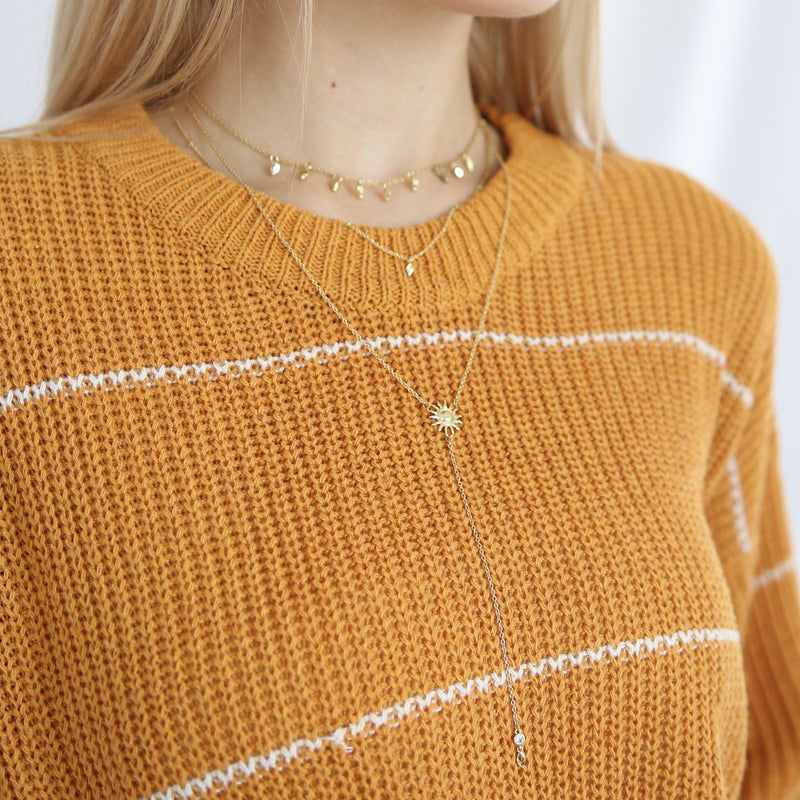 """Taylor"" Mustard Yellow Ribbed Knit Sweater"