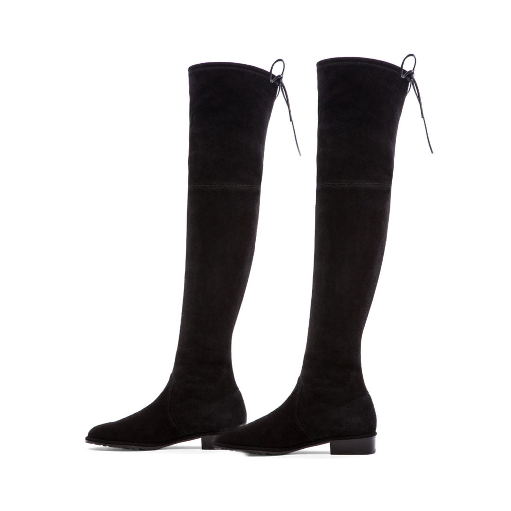 """Riley"" Black Over-the-knee Flat Boots"