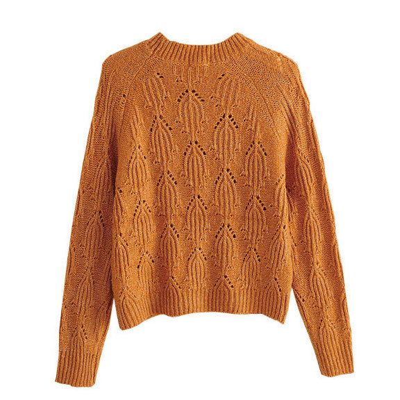 """Meghan"" Sandstone Cable Knit Sweater"