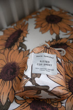 Sunflower Cot Sheet - Cot Sheets