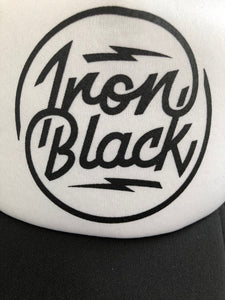 IRON BLACK LOGO CAP WHITE