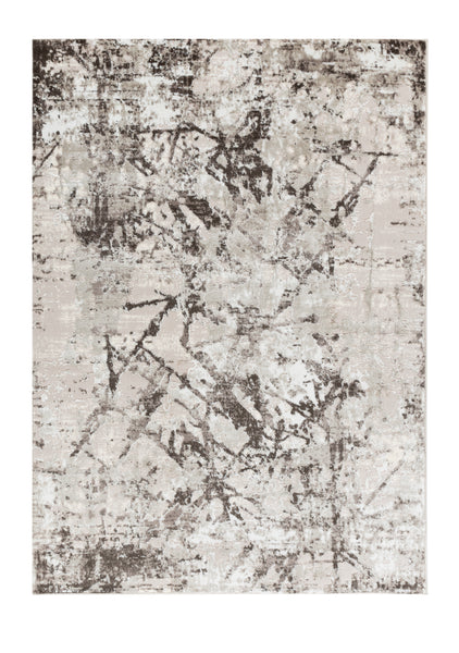 Dream Collection Modern Craked Marble Gray Soft Rug