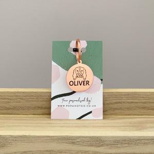 Personalised Breed ID Tag - Rose Gold