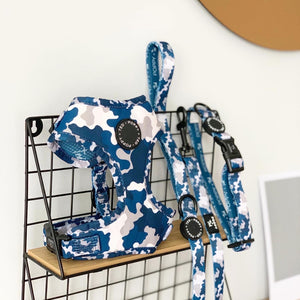 Walk + Wear | Adjustable Harness | Blue Camo