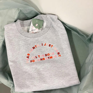 Dear Santa, I just want all the dogs - Embroidered Sweatshirt