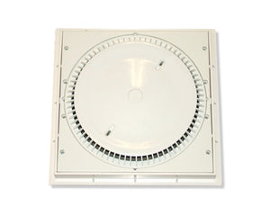 Afras Anti-Vortex Drain Cover With Ringplate - 12x12 Inch - White