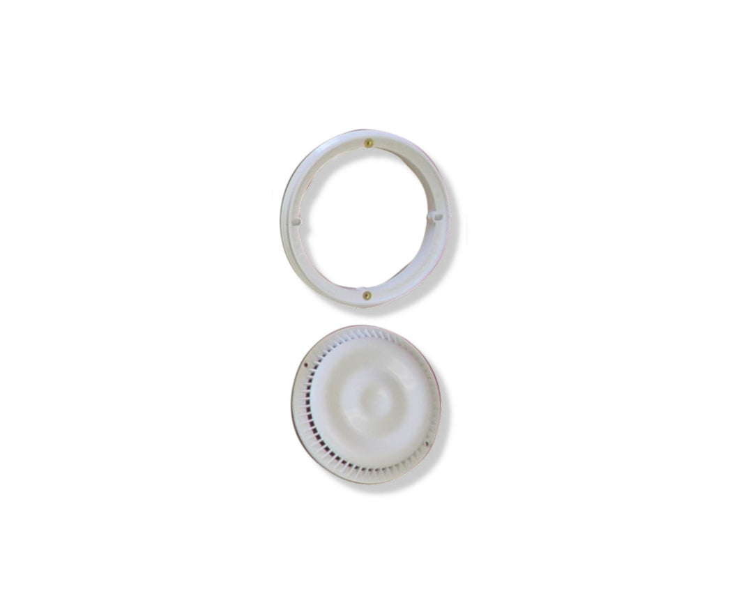 Afras Anti Vortex ABS Drain Cover and Ring White ABS for Pools
