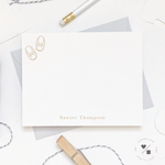 kids personalized stationery with moccasins