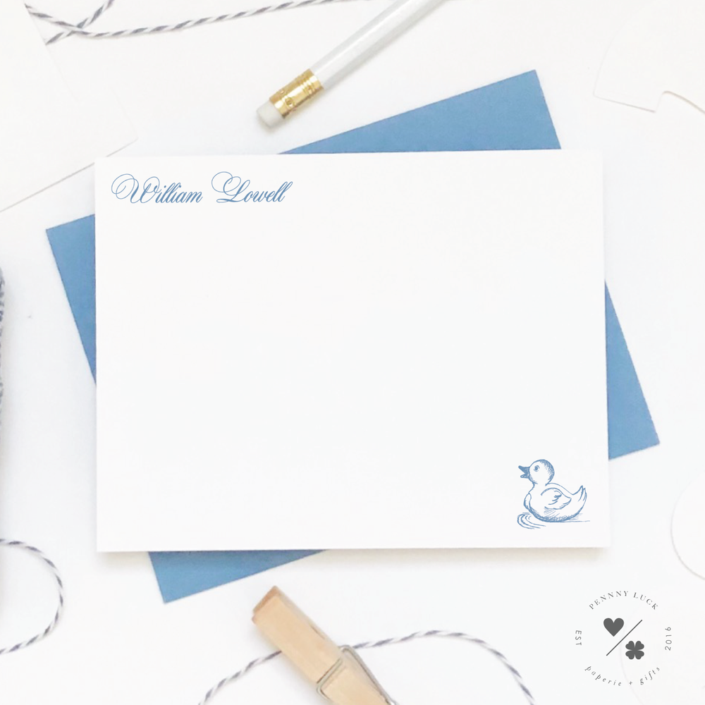 Baby Stationery • Duckling